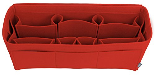(Pelikus Felt Purse & Tote Organizer Insert/Multi-Pocket Handbag Shaper (X-Large-Slender, Red))