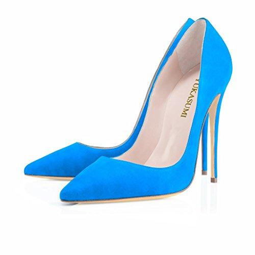 EDEFS - Plataforma Mujer Suede-Blau