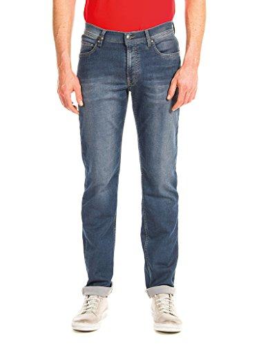 Carrera Jeans - Jeans PASSPORT T707M0900A para hombre, estilo recto, tejido extensible, ajuste regular, cintura normal Azul