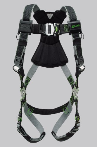 Safety Connector - Miller Revolution Full Body Safety Harness with Quick Connectors, Size 2X & 3X, 400 lb. Capacity (RDT-QC/XXL/XXXLBK)