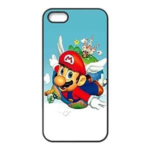 iPhone 5 5s Cell Phone Case Black Super Mario Bros Wdlh