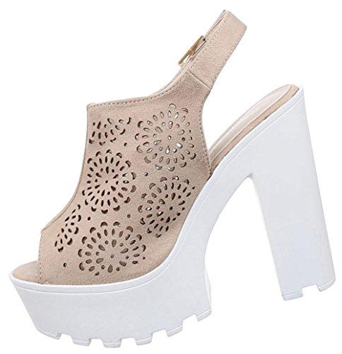 Damen Schuhe Pumps Nieten High Heels Stiletto Abendschuhe Sandaletten Beige 40 0Z7mf4