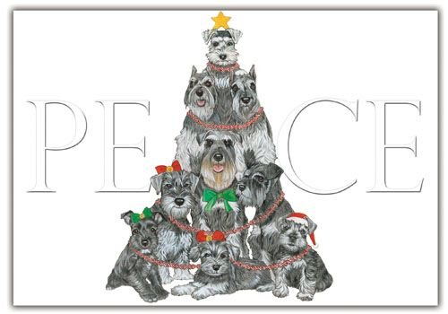 Pipsqueak Productions C565 Schnauzer Holiday Boxed Cards