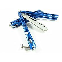Icetek Sports 44477 Metal Practice Balisong Butterfly Knife Trainer, Blue