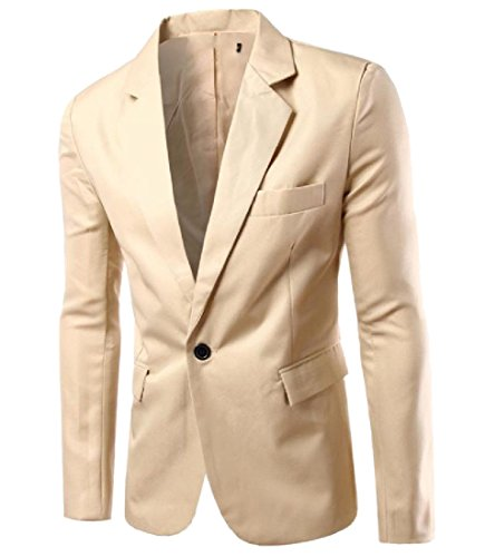 Comfy Mens 1 Button Pocketed Plus-Size Solid-Colored Novelty Suit Coats hot sale
