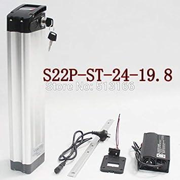 HYLH 10A 3C para SAMS Cell Ebike Batería de Litio Bicicleta eléctrica Caja de Metal S22P 24V 19.8AH Tubo del Asiento Batería de polímero de Iones de Litio