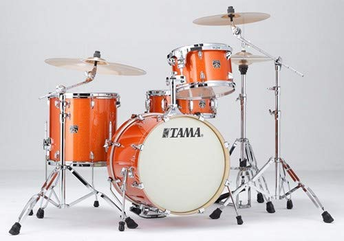 Tama Superstar Classic Maple 4-Piece Shell Pack - Bright Orange Sparkle