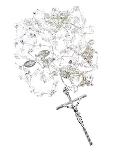 - DivaDesigns Hispanic Traditional Wedding Crystal and Cross Lasso 110 - Silver Tone/Clear