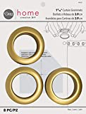 Dritz NR-733 Curtain Grommets 8 Pack Brass 1-9/16in