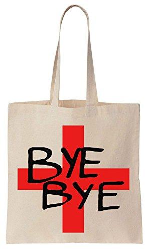 BYE BYE England Football Euro 2016 Sacchetto di cotone tela di canapa