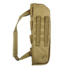 1PCs Hunting Gun Bag Tactical Shotgun Rifle Scabbard Sheath With Molle Webbing Fit for Barrel Under H12 (tan)