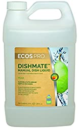 Earth Friendly Products Proline PL9720/04 Dishmate Pear Ultra-Concentrated Liquid Dishwashing Cleaner, 1 gallon Bottles (Case of 4)