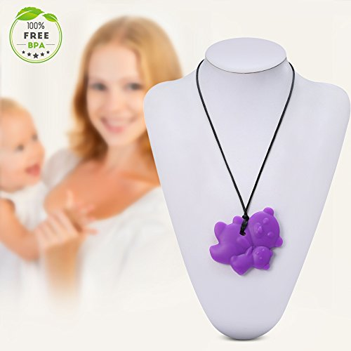 Autolover baby silicone teething necklace for mom to wear for When can babies wear jewelry