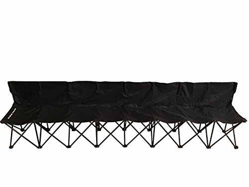 Petra Sports 8 Seat Fold-able & Portable Sports Team Bench w/Carry Bag. Football, Soccer, Basketball, Lacrosse Sideline and Tailgate Benches. ()