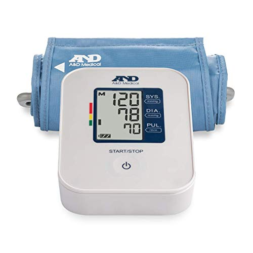 Pressure Inflate Blood Monitor (A&D Medical Easy Upper Arm Blood Pressure Monitor with Medium Cuff (UA-611))