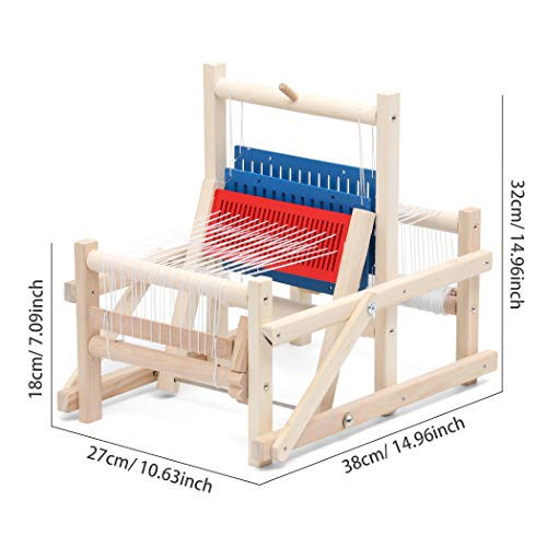 Lavievert Wooden Multi-Craft Weaving Loom DIY Hand-Knitting Weaving Machine Intellectual Toys for Kids by Lavievert (Image #1)