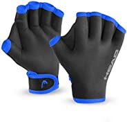 HEAD 483996-L Swim Glove, Black/Orange, Large