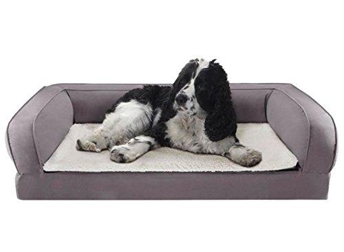 Espuma de memoria Ortopédica para Perros Cama en color gris - Ayuda para proteger su antiguos del Perro de las articulaciones y Promueve Descanso.