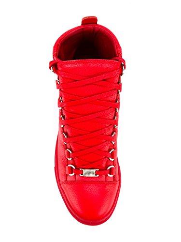 Cuir Montantes Baskets Femme Rouge 433296wayn06312 Balenciaga qWAt8040
