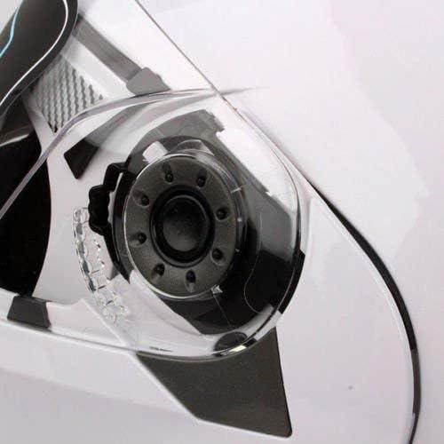 Modularhelm Motorrad Integralhelm mit doppeltem Sonnenschirm DOT zertifiziert XXL wei/ß