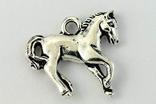 (18mm Antique Silver Pewter Yearling Horse Charm (20 Pcs))
