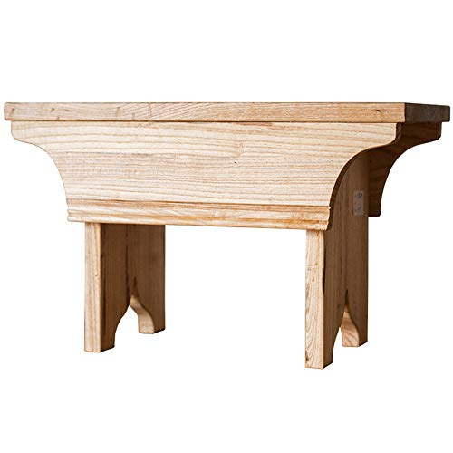 NBRTT Perfect Solid Oak Handmade Footstool, Bamboo Shower seat Bench, Wooden Bathroom Stool, for Indoor or Outdoor use Kitchen, Bedroom, Living Room