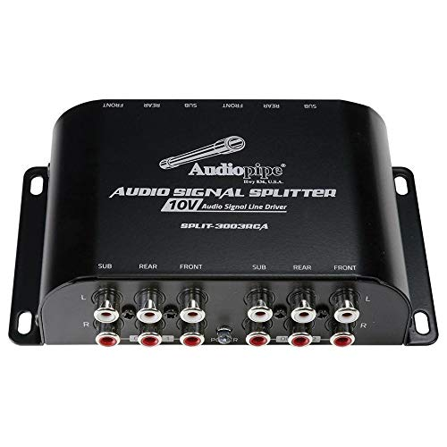 - Audiopipe Multi-Audio Amplifier 3 RCA outputs w/bulit in 10V line driver