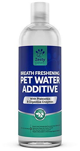 Cat Paw Care (Water Additive for Dogs & Cats - Pet Dental Care for Bad Breath and Healthy Teeth - Premium Freshener With Digestive Enzymes & Prebiotics - 16 FL OZ)