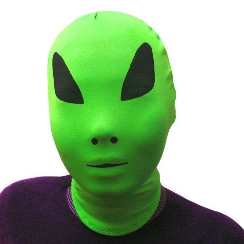 AltSkin 2Face Solid Spandex Mask, Alien, Adult
