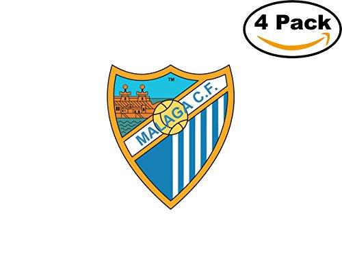 fan products of Malaga CF Spain Football Club Soccer FC 4 Sticker Decal 4X4
