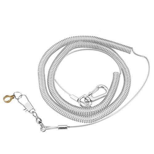 HEEPDD 6m Parrot Bird Harness Leash Anti-bite Outdoor Flying Training Rope Pet Supplies for Macaw African Greys Parakeet Cockatoo Cockatiel Conure Lovebird(Foot Ring Dia. 8.5mm) ()