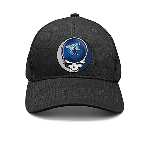 100% Cotton Snapback Hats for Men Dallas-Cowboys-The-Grateful-Dead-Skull- Adjustable Baseball caps strapbacks Men's dad ()