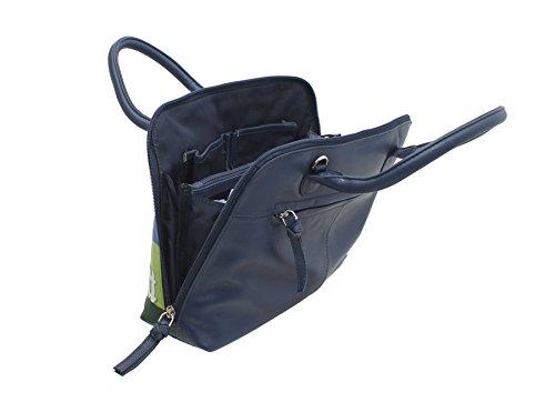 Tracolla Leather Pelle Blu Blue 7114 In Collection 91 Con Mala Borsa Grab Rurale 8HwOxnS1q