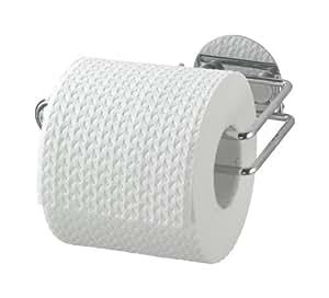 Wenko 18774100 Turbo Loc - Dispensador de papel higiénico (fijación sin agujeros, 14 x 6 x 9 cm), cromado