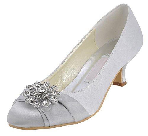 Kevin Fashion - Zapatos de boda fashion mujer , color Amarillo, talla 43 EU