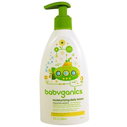 - BabyGanics Moisturizing Daily Lotion Chamomile Verbena 9 fl oz 266 ml