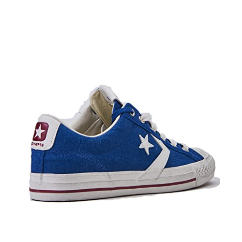 Converse Sneakers Uomo, Star Player 160924C/TRUEBLUE/EGRET/GARNET, Distressed OX, In Tela Colore Blu, Nuova Collezione Primavera Estate 20118