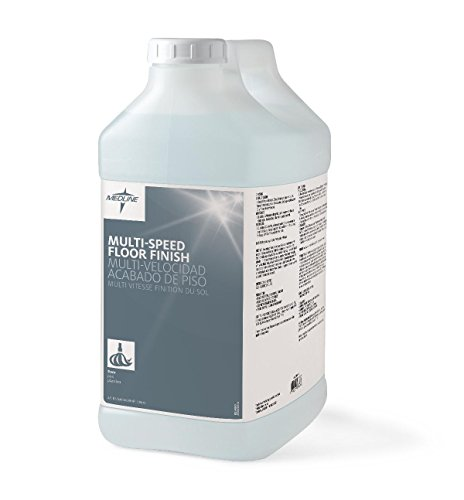 Medline EVSCHEM510 Multi-Speed Floor Finish, 2.5 gal (Pack of 2) (Medline Wood)