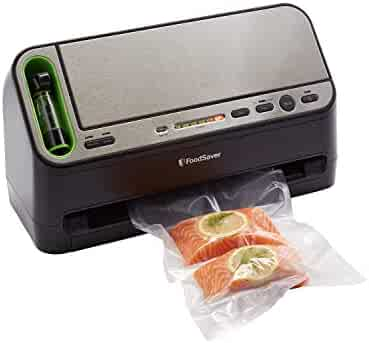 FoodSaver V4440 2-in-1 Vacuum Sealer Machine with Automatic Bag Detection and Starter Kit | Safety Certified | Black & Silver