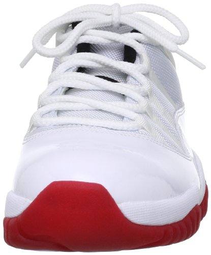Nike Air Jordan 11 Retro Low, Zapatillas de Baloncesto para Hombre white/varsity red-black