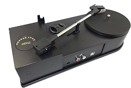 WIMI USB Mini Vinyl Turntable Record Player Speed 33/45RPM Vinyl Turntables LP Music to MP3/WAV Converter, Save Digital Audio into PC,Transfer to MP3 Player iPhone/iPod/Phones, R/L Output to Speacker Delighting digital co. limited EC008B