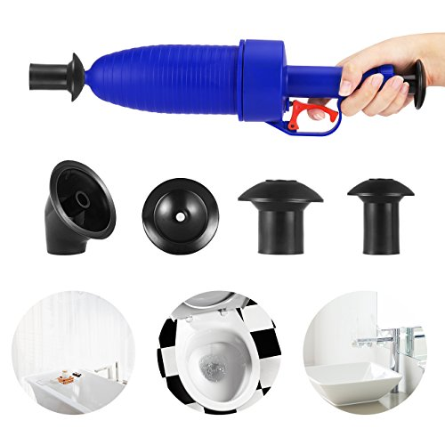 Toilet Plunger Air Drain Strainers Blaster With 4 Sized