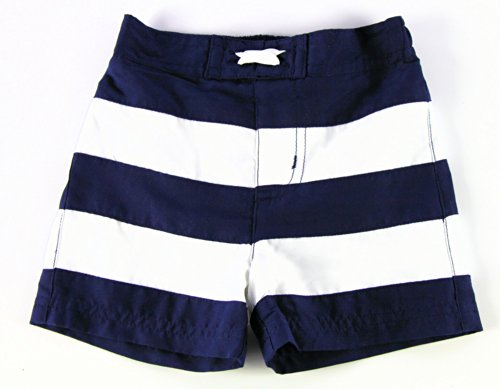 Baby Boy Swimsuit Swim Shorts - Classic Navy and White Stripes- UPF 50 Protection (6 (Circo Blue Swimsuit)