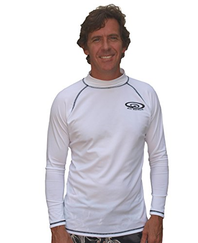 Sun Emporium White Long Sleeve Men's Swim Shirt 6XL