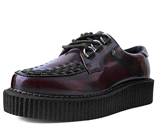 Anarchic T2275 Unisex-Adult Creepers, Burgundy Rub Off Anarchic Creeper - US: Mens 9 / Women 11 / Red/Synthetic