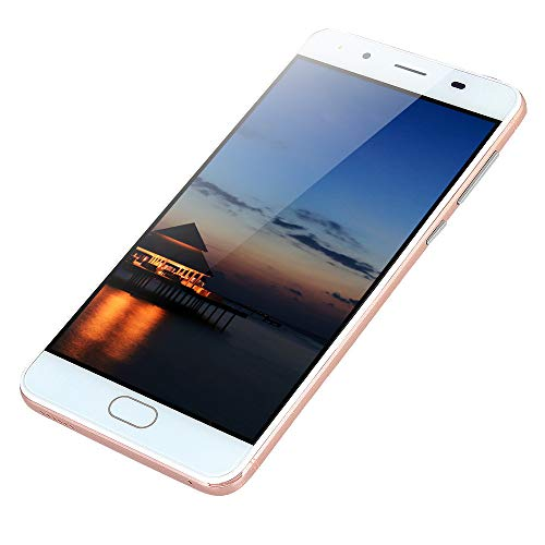 Highpot 5 Inch Ultrathin Dual SIM Cell Phone - Android 5.1 Quad-Core 512MB+4GB GSM 3G WiFi Unlocked Mobile Phone Smartphone (Rose Gold)