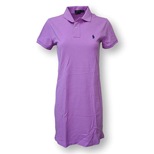 Polo Ralph Lauren Women's Mesh Polo Mini Shirt Dress, Purple, Small (Rugby Shirt Dress)