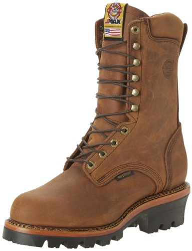 Justin Waterproof Shoes (Justin Original Work Boots Men's Jmax Logger Steel TE Steel Toed Work Shoe,Rugged Aged Bark/Gaucho Waterproof,7 D US)