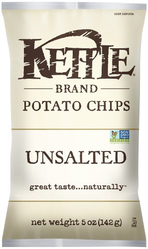 Kettle Brand Potato Chips, Unsalted, 5-Ounce Bags …