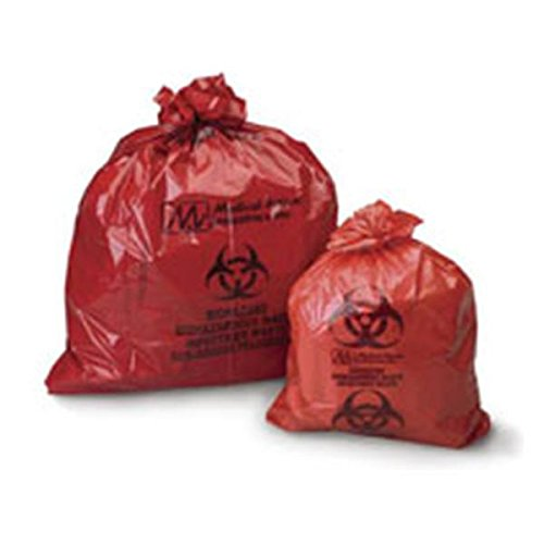 WP000-PT 109 109 Bag Biohazard 38x45'' 40-45 Gallons Infectious Waste Red 200/Ca Medical Action Industries